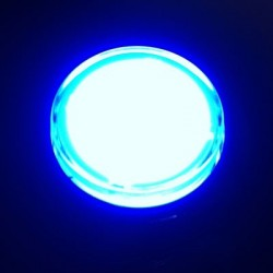 Chrome Illuminated push-button Blue