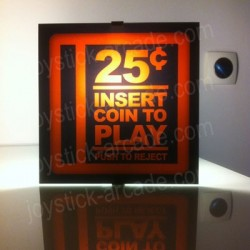 Aplique mural insert coin decoracion retro 25cts