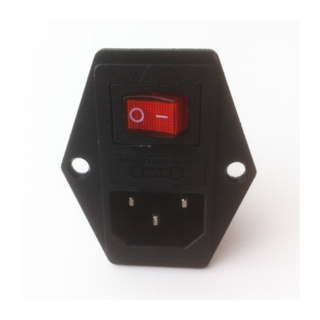 AC Power switch socket with fuse