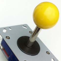 Joystick Zippy longo Ball-top Amarillo 8 vias