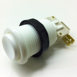 Bouton Arcade 28mm vissable Blanc