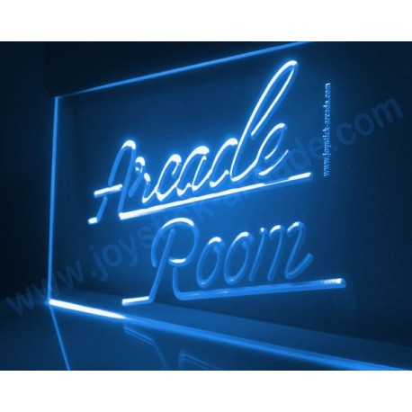 BLUE Arcade Room Illuminated sign neon retro style