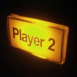 Player 2 Illuminated push button - Yellow