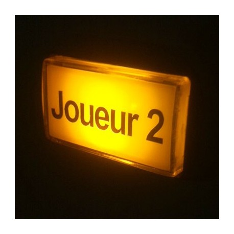 Joueur 2 Illuminated push button - Yellow