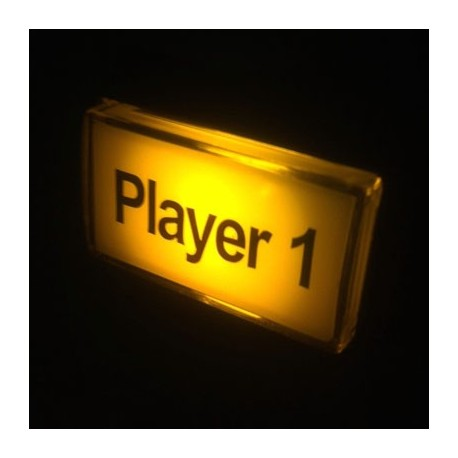 Player 1 Illuminated push button - Yellow