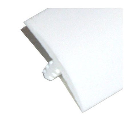 T-molding - Blanc 19mm - chant de protection